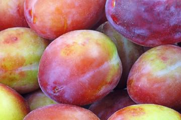 close up plums
