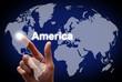 "Touch screen Welt ""America"""