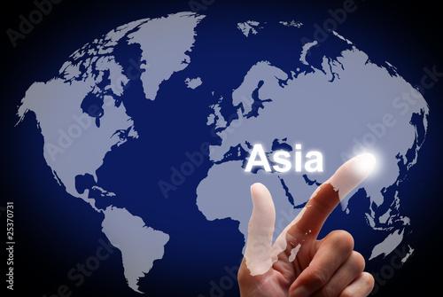 "Touch screen Welt ""Asia"""