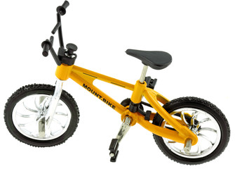 mini vélo mountain bike vtt cross, fond blanc