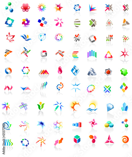 72 different colorful vector icons (part2)