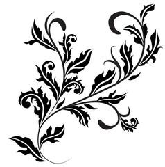 Retro floral design curl