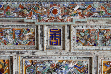 wall of Emperor Khai Dinh Cemetery