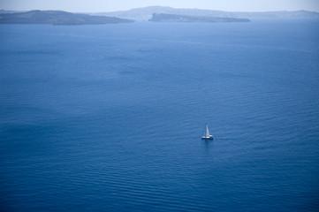a sailing boat in the aegean sea