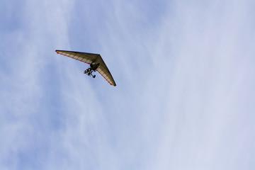 motoglider in sky
