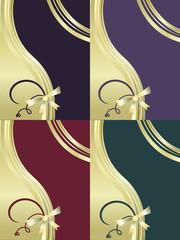 Decorative  backgrounds set