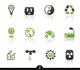 Set of nine ecology web icons from series