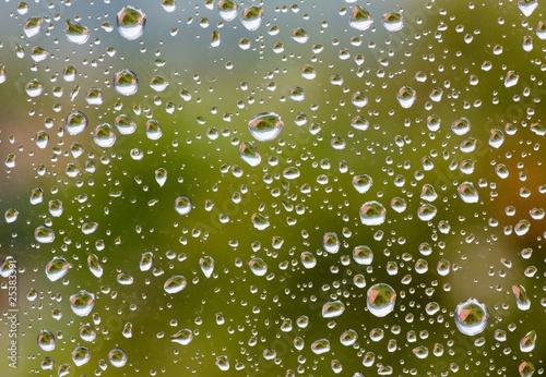 Waterdrops on window.