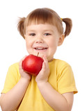 Cute child with apple
