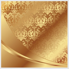 Gold vector background for decoration and design
