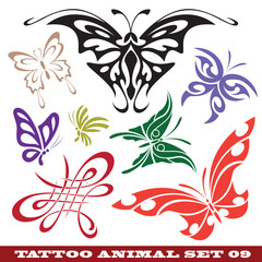 templates butterfly for tattoo and design on different topics