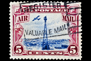 Beacon on Rocky Mountain Airmail Stamp