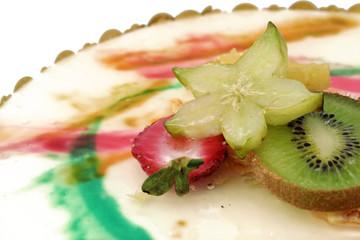 Délicieuse pâtisserie aux fruits tropicaux