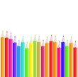 Vector background made of pencils