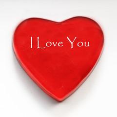 coeur rouge i love you