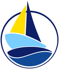 Barca a vela stilizzata