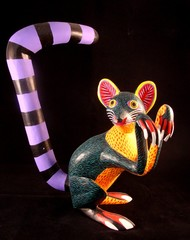 A Coatimundi Alebrije Wood Carving