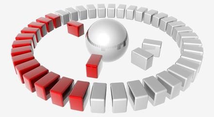 Diagramme de réseau rouge et blanc