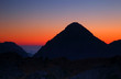 Fototapete Wolken - Morgengrauen - Hochgebirge