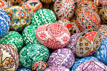 Romanian traditional easter eggs