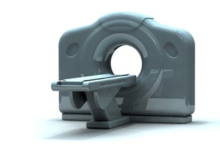 3d render computed axial tomography ct or cat scanner