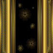 Decorative black and golden frame