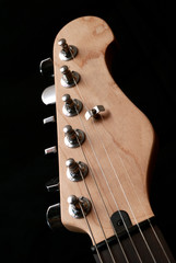 electric guitar headstock