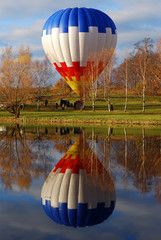Air balloon reflecting