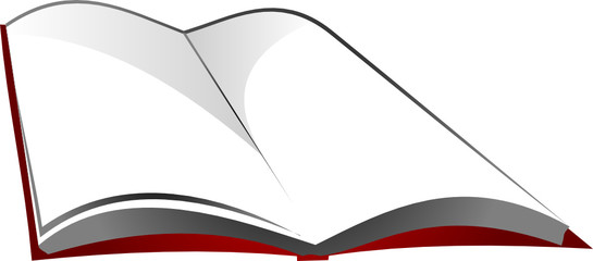 Open book, vector illustration on white background