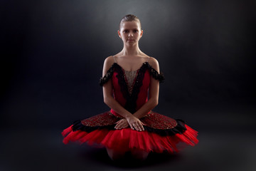 seated ballerina