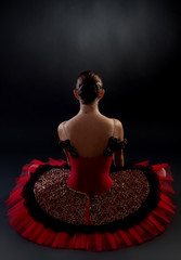 back of a ballerina