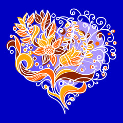 Floral decorative heart