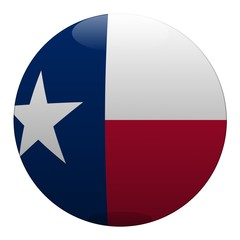 boule texas ball drapeau flag