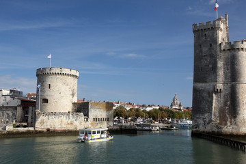 Fortified inner harbour entrance of La Rochelle