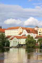 The colorful medieval town Pisek in Czech Republic
