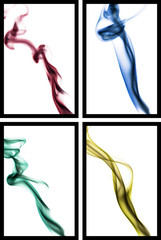 four abstract smoke photography