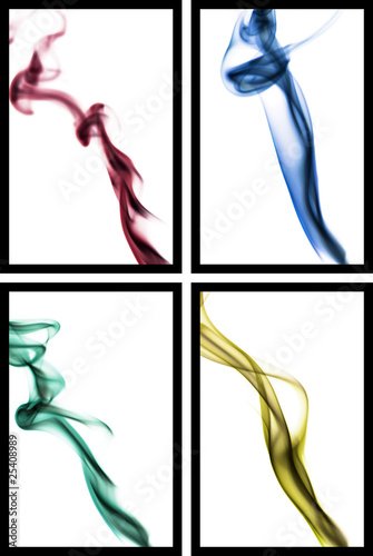 four abstract smoke photography