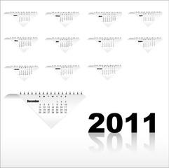 Abstract creative Calendar for Vector illustration design