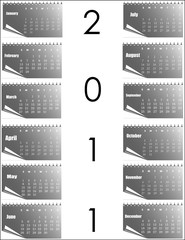 Abstract creative Calendar for Vector design