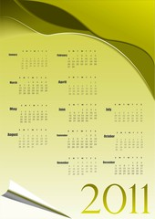 Abstract colorful calendar for vector illustration
