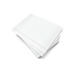 ilustracion 3d, con cuaderno en blanco listo para escribir