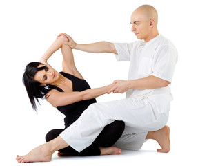 Thai massage stretching