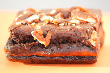 Chocolate Brownie with Nuts Dessert