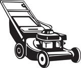 Power Lawnmower Vinyl Ready Vector Illustration