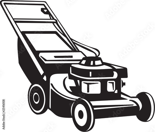Power Lawnmower Vinyl Ready Vector Illustration - 25416108