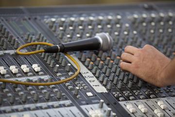 adjusting of sound board