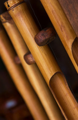 Bamboo wind chime texture