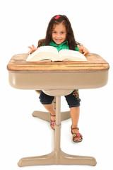 Girl in Desk