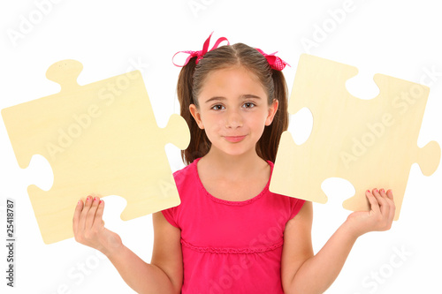 Girl with Puzzle Pieces