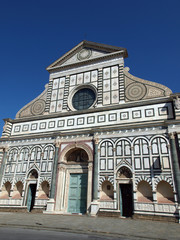 The façade of Santa Maria Novella - Florence